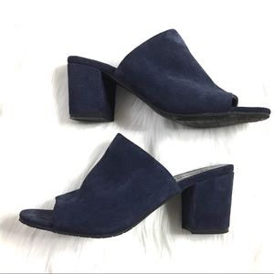 Kenneth Cole Reaction Blue Suede Mules
